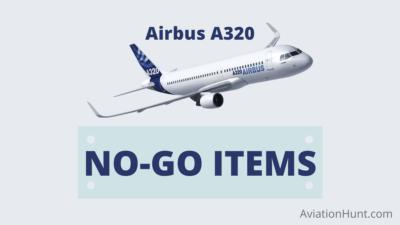 AIRBUS A320 NO-GO ITEMS ATA WISE